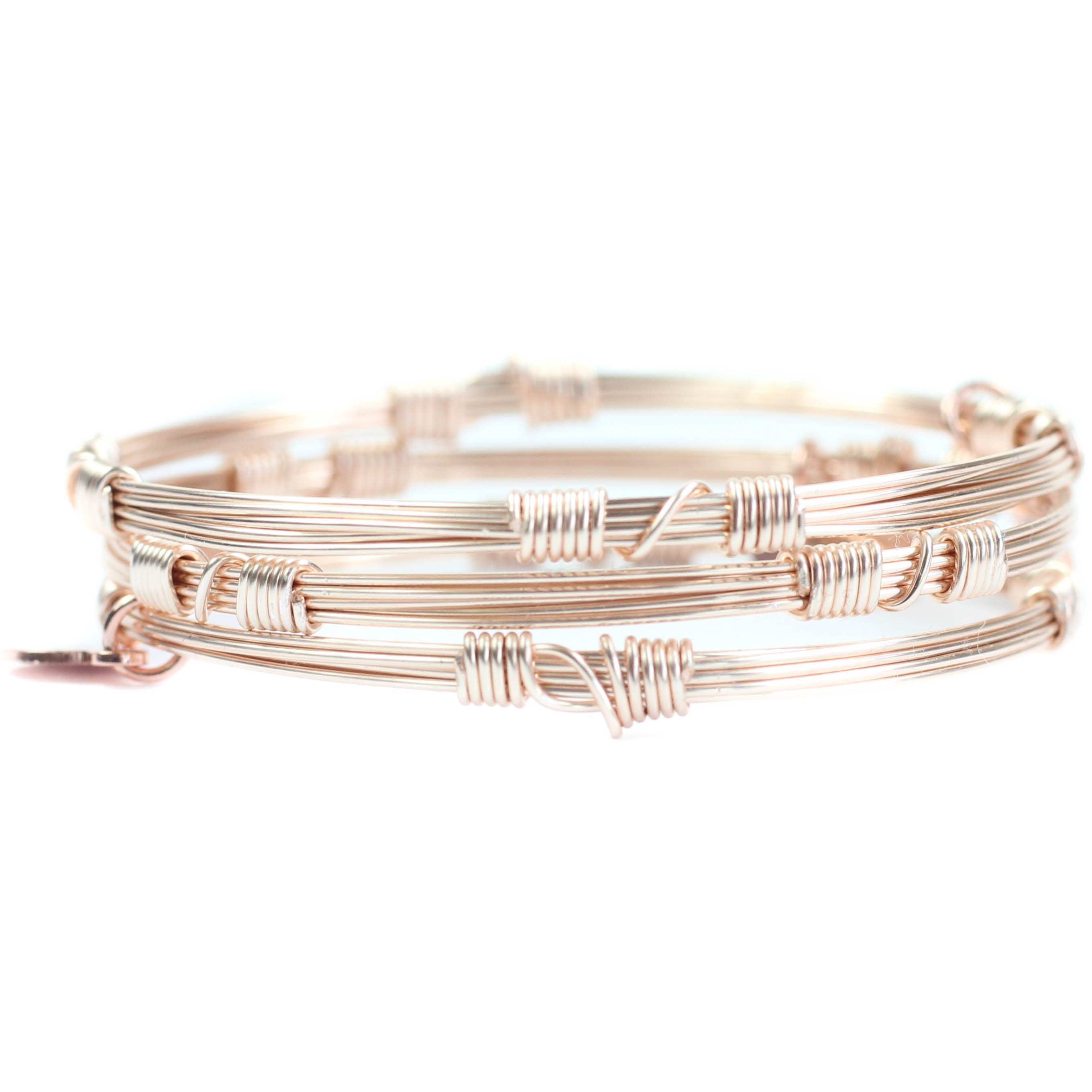 Bourbon and Boweties - ROSE GOLD BANGLE STACKERS