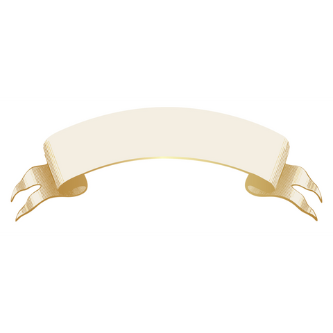 Hester & Cook -  Classic Gold Banner Table Accent