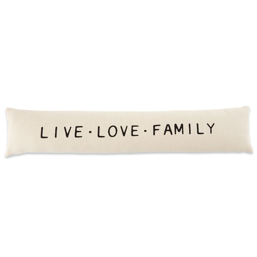 Mud Pie - LIVE LOVE FAMILY LONG PILLOW