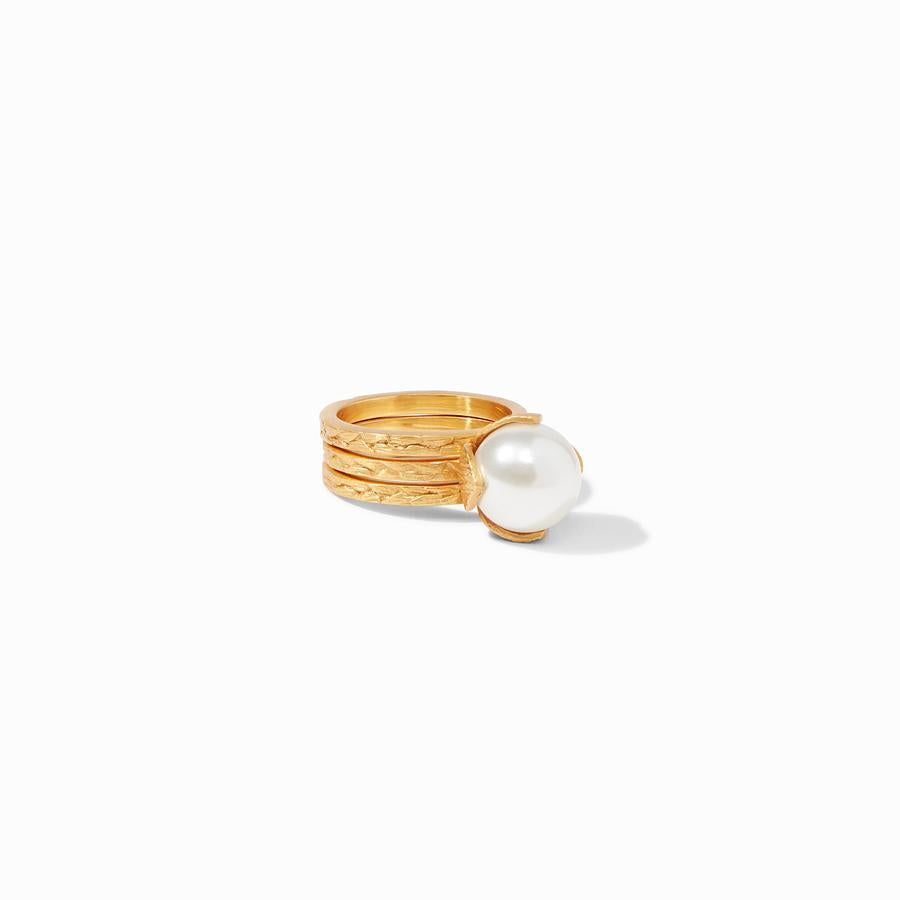 Julie Vos - Penelope Ring - Pearl - Size 7, Laid Flat