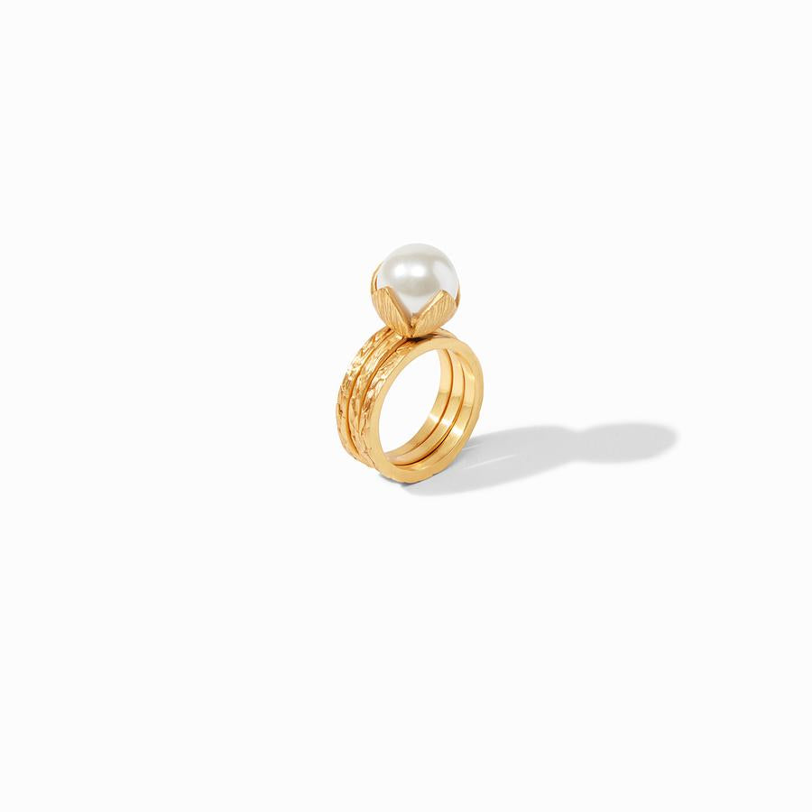 Julie Vos - Penelope Ring - Pearl - Size 7, Side View