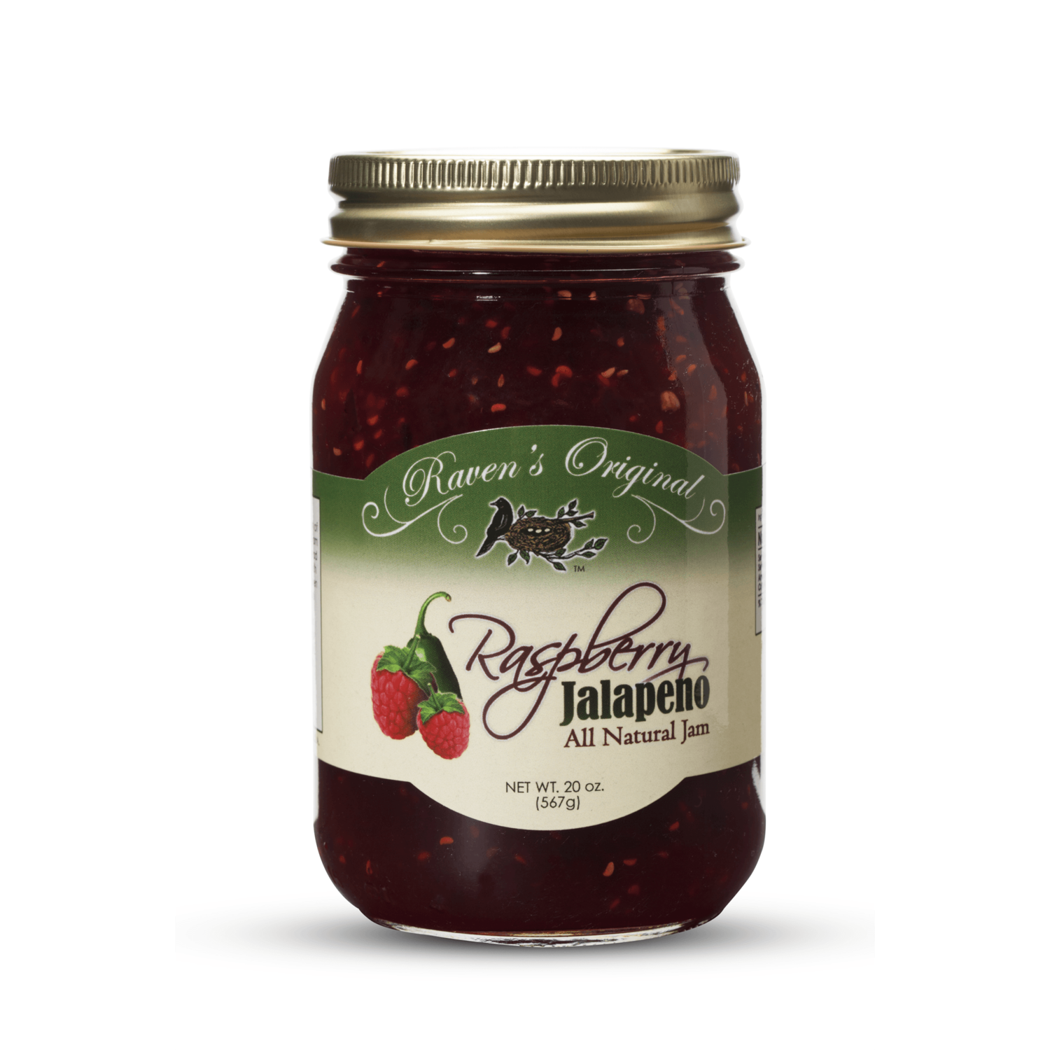 Ravens Nest - Raspberry Jalapeno Jam ***Best Seller!