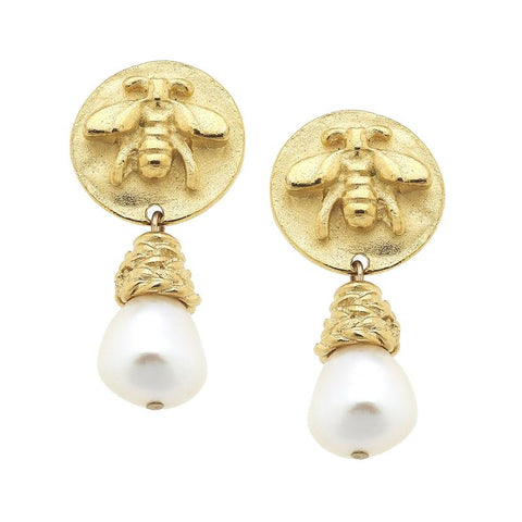 Susan Shaw SARAHBETH PEARL DROP EARRINGS