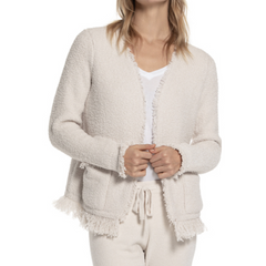 BAREFOOT DREAMS: the COZYCHIC® FRINGED JACKET