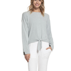 BAREFOOT DREAMS: the COZYCHIC ULTRA LITE® TIE FRONT TOP IN BLUE WATER