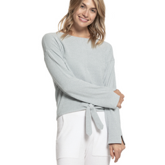 BAREFOOT DREAMS: the COZYCHIC ULTRA LITE® TIE FRONT TOP IN BLUEWATER WOULD BE A GREAT CHRISTMAS GIFT FROM FINDLAY ROWE DESIGNS GIFT SHOP IN ROSWELL, GEORGIA