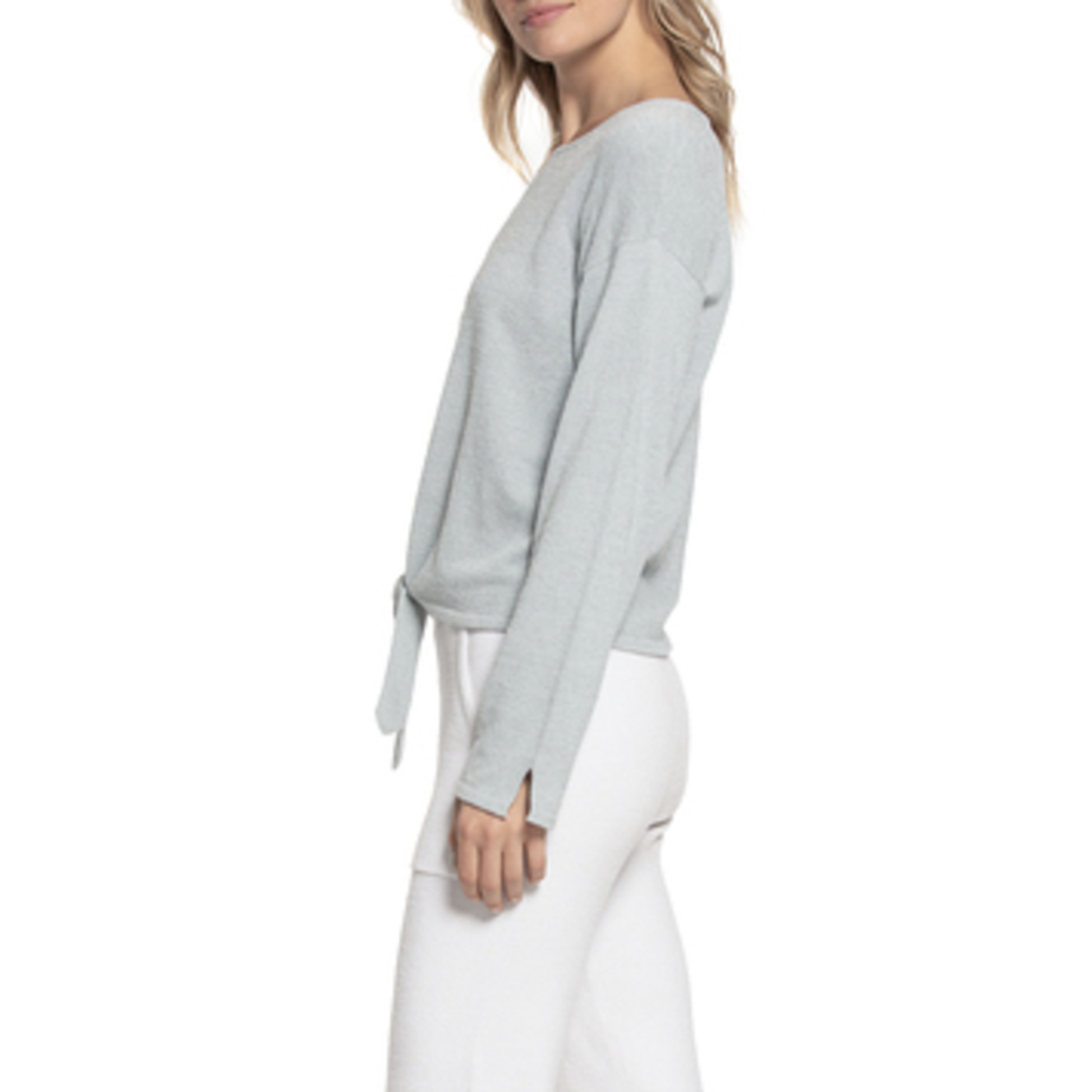 BAREFOOT DREAMS: the COZYCHIC ULTRA LITE® TIE FRONT TOP - BLUEWATER SIDE VIEW