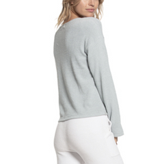 BAREFOOT DREAMS: the COZYCHIC ULTRA LITE® TIE FRONT TOP - BLUEWATER BACK VIEW