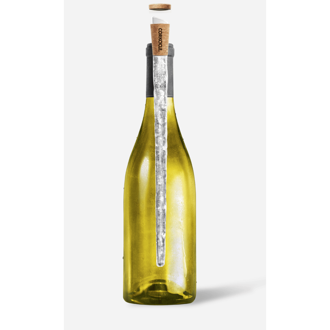 CORKCICLE AIR SHOWN IN WINE BOTTLE