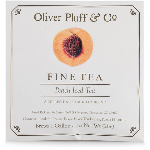 Oliver Pluff & Company - Peach Iced Tea Packet