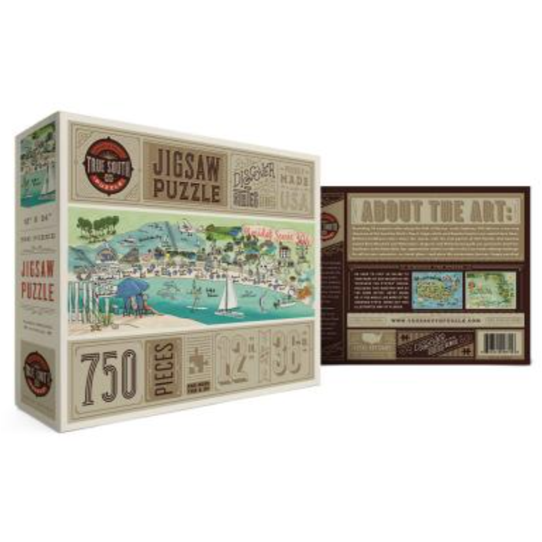 TRUE SOUTH Florida 30A shown in box