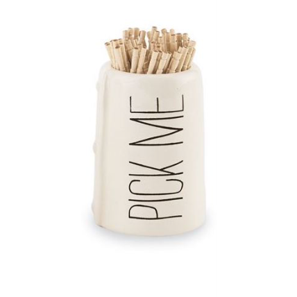 MUD PIE - PICK ME TOOTHPICK HOLDER