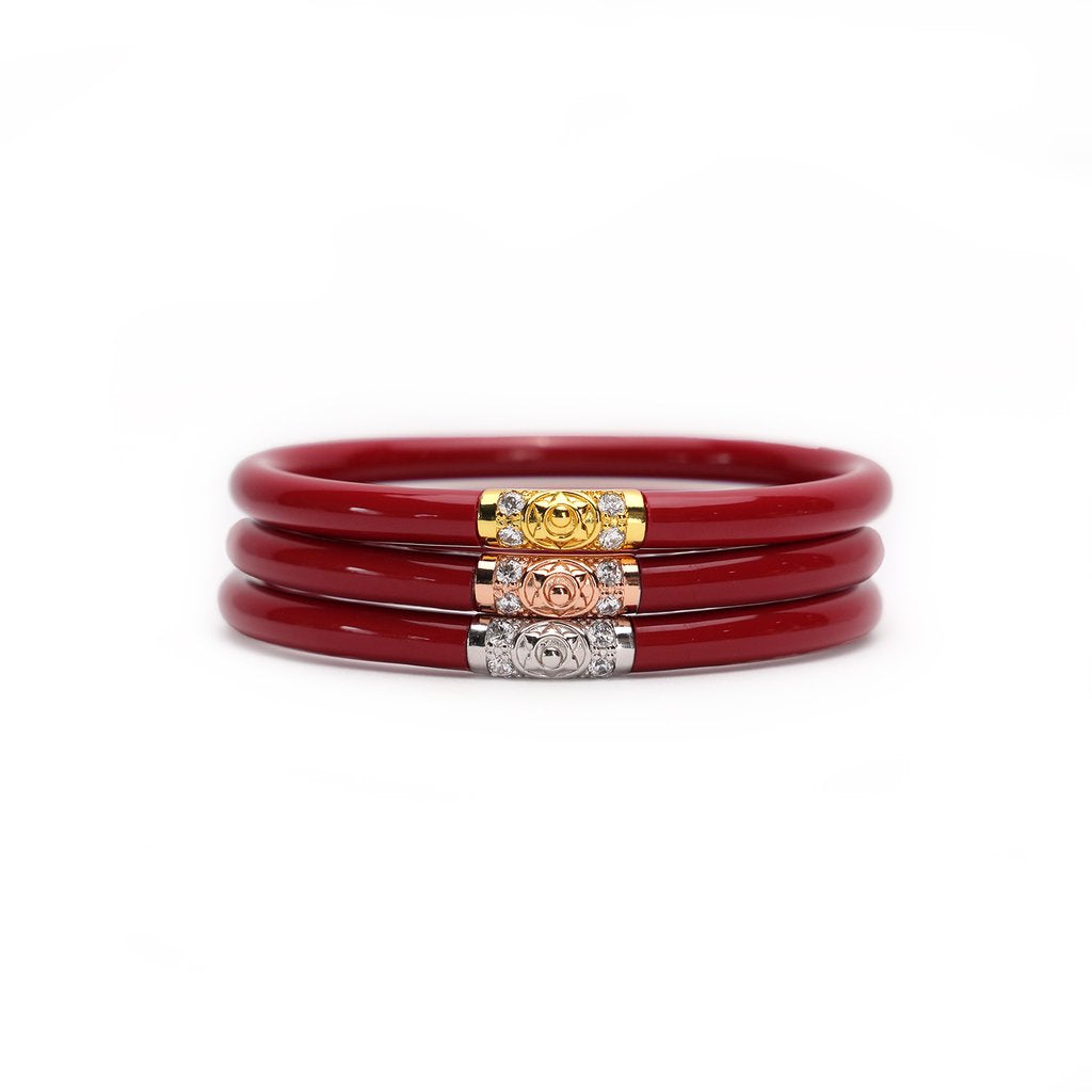 Budah Girl - THREE KINGS ALL WEATHER BANGLES® - red