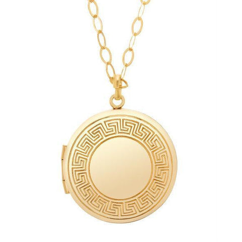 "enewton -  necklace - 28.5"" Necklace Gold - Cherish Medium Gold Locket"