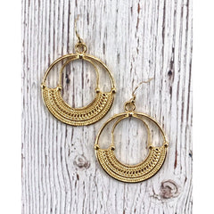 InspireDesigns - Cleopatra Earrings, Laid Flat (Gold Version)