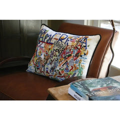 Catstudio Hand embroidered America Pillow - Findlay Rowe
