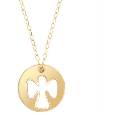 enewton - necklace - Guardian Angel necklace gold