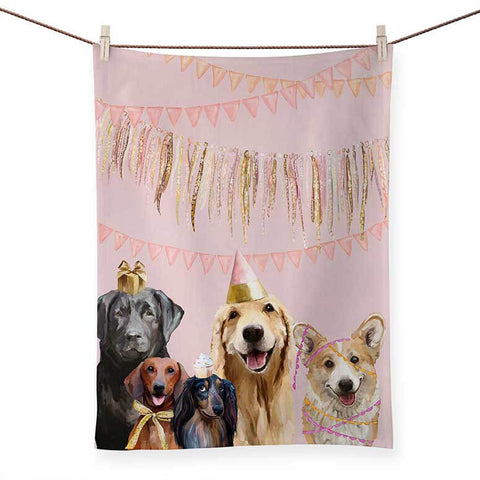 Best Friend - Party Pups Tea Towels