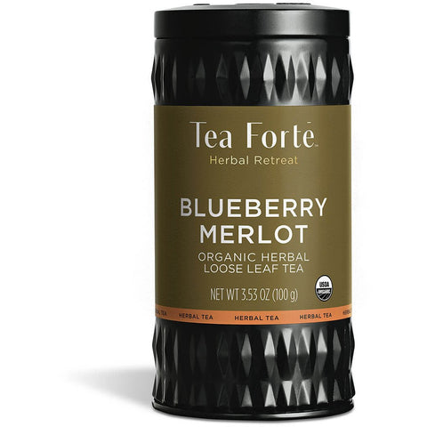 Tea Forte - BLUEBERRY MERLOT TEA HERBAL RETREAT LOOSE TEA CANISTER