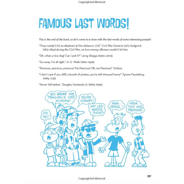 The Big Book of Boy Stuff - Famous last words