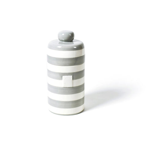 Happy Everything - Stone Stripe Mini Canister