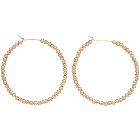 "enewton -  beaded gold 1.75"" hoop - 3mm bead gold"