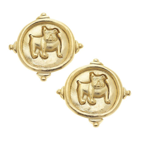 Susan Shaw - Gold Bulldog Post Earring