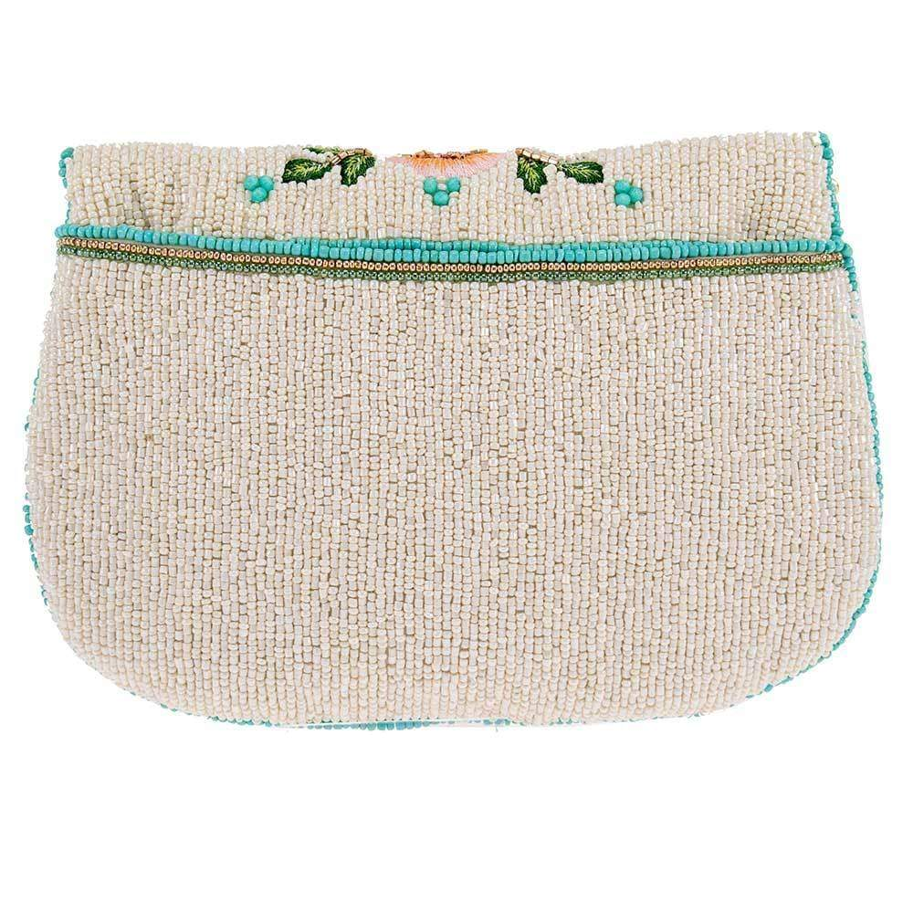 Mary Frances - Wallflower Beaded Crossbody Clutch Handbag BACK VIEW