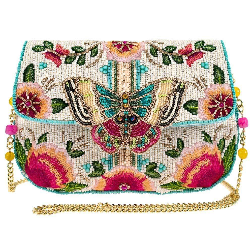 Mary Frances - Dream Chaser Beaded Butterfly Crossbody Clutch Handbag