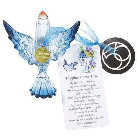 Department 56 - Bluebird of Happiness Ornament and message