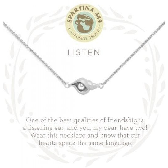 Sea La Vie Listen Slver Necklace