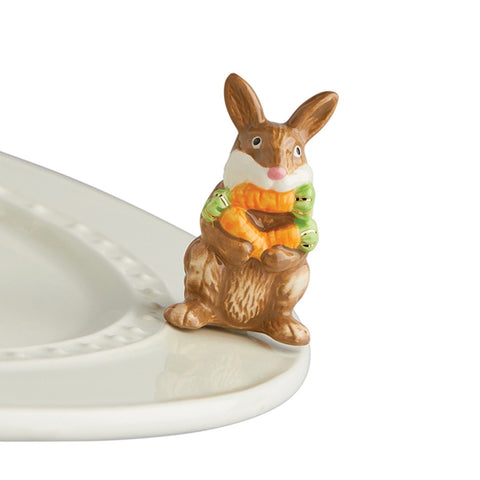 BRAND NEW! NORA FLEMING FUNNY BROWN BUNNY MINI