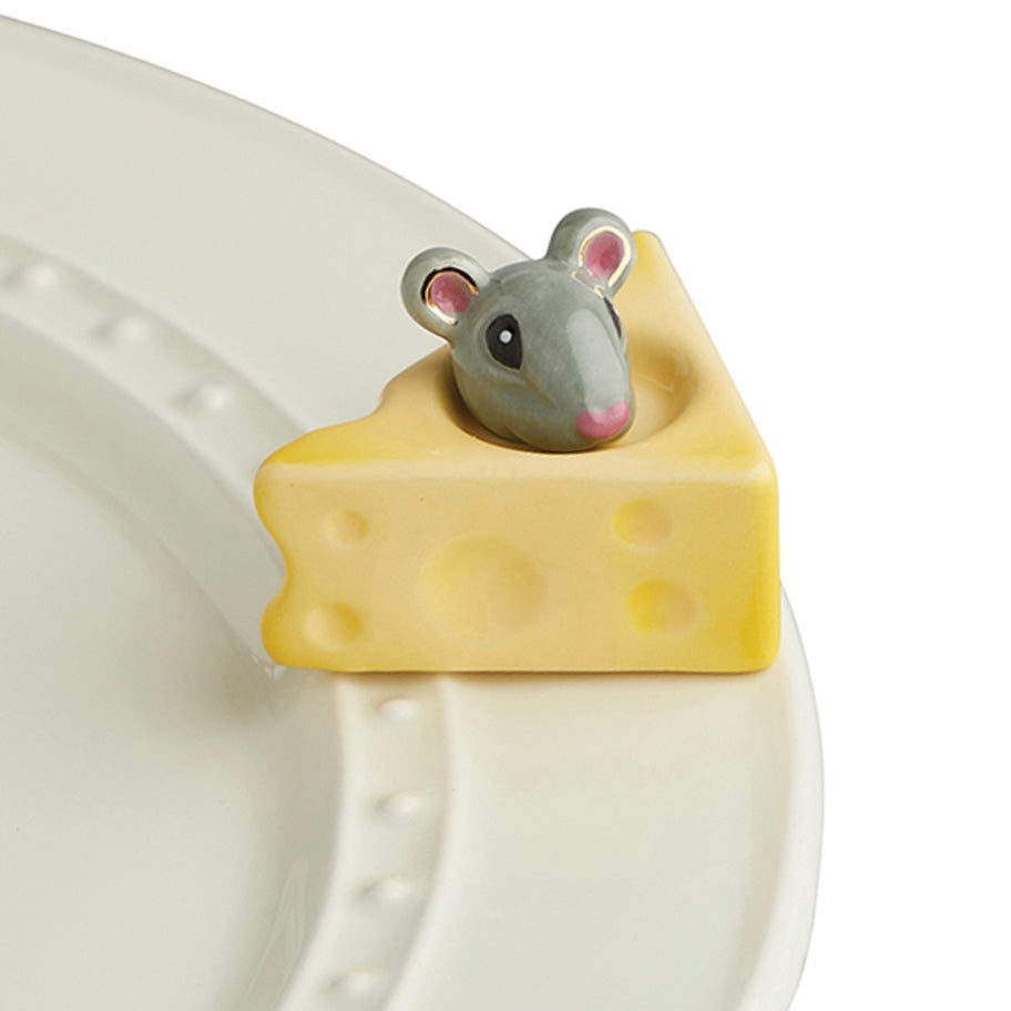NORA FLEMING CHEESE PLEASE MOUSE & CHEESE MINI - FINDLAY ROWE