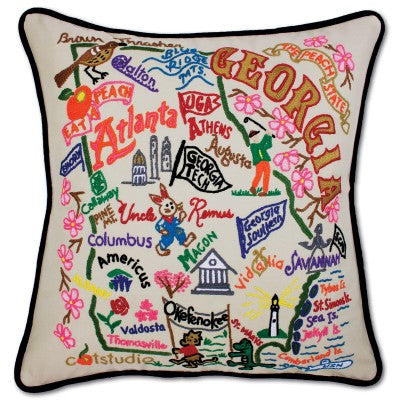 Catstudio Hand embroidered Georgia Pillow