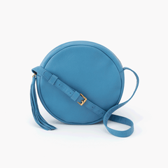 Hobo - GROOVE Leather Small Crossbody - Dusty Blue, Front View