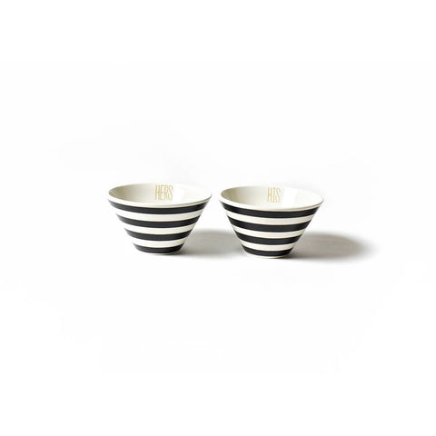 Coton Colors - His & Hers Mod Small Bowl Set