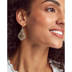 Kendra Scott - ADDIE SILVER DROP EARRINGS IN SILVER FILIGREE MIX on model