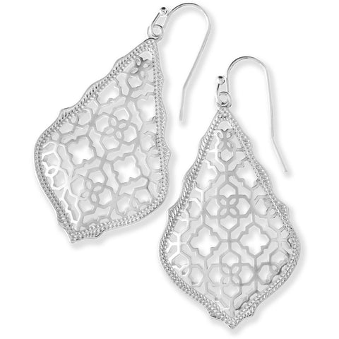 Kendra Scott - ADDIE SILVER DROP EARRINGS IN SILVER FILIGREE