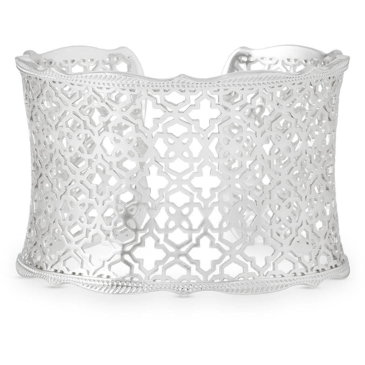 Kendra Scott -  Candice Silver Cuff Bracelet In Silver Filigree Mix