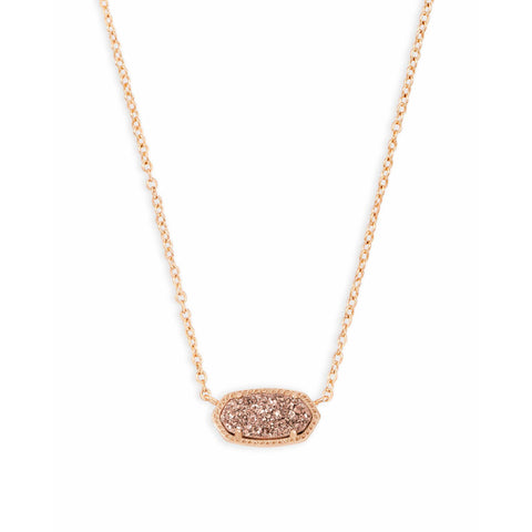 Kendra Scott - Elisa Rose Gold Pendant Necklace in Rose Gold Drusy