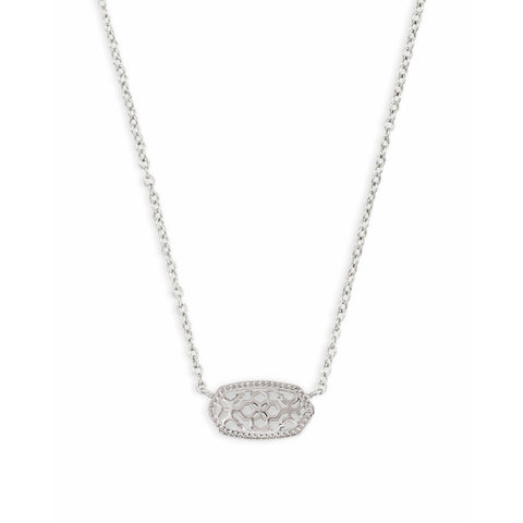 Kendra Scott - Elisa Silver Pendant Necklace in Silver Filigree