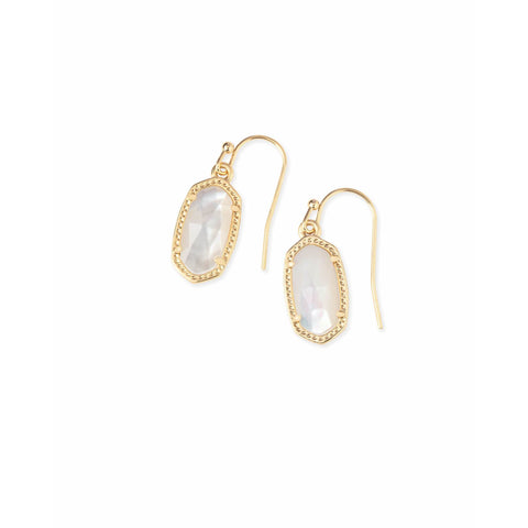 Kendra Scott - Lee Gold Drop Earrings in Ivory Pearl