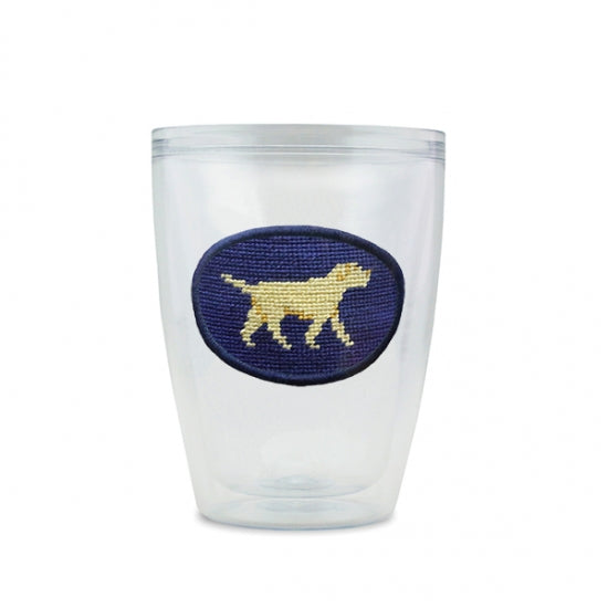 Smathers and Branson Yellow Lab Needlepoint Tumbler