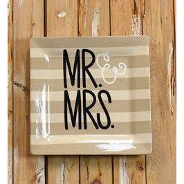 Coton Colors - Mr. & Mrs. Wedding Square Platter