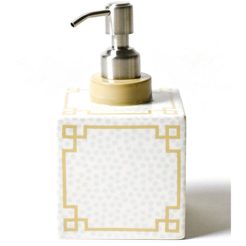 Coton Colors - Smoke Small Dot Square Soap Pump