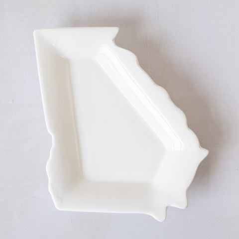 Georgia Shaped Platter Dish - 6""
