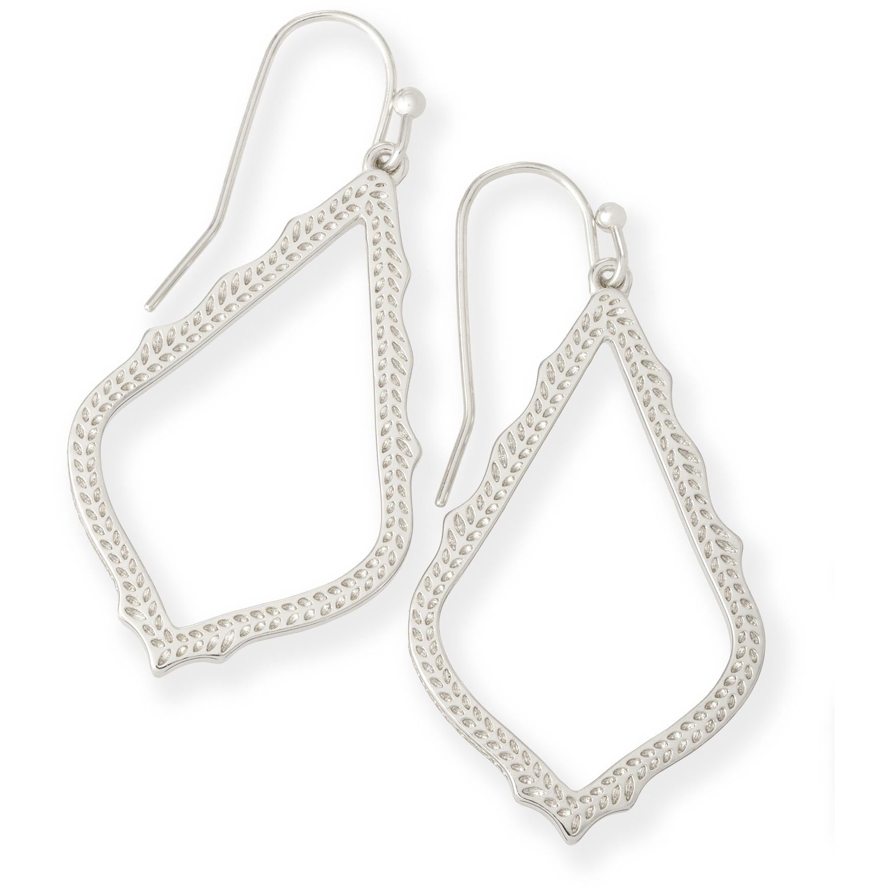 Kendra Scott - Sophia Drop Earrings in Silver, Front View