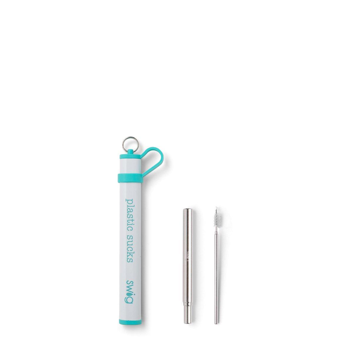 Swig - Telescopic Stainless Steel Straw Set - PLASTIC SUCKS
