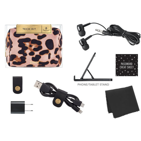 Pinch Provisions - Blush Leopard Tech Minimergency Kit