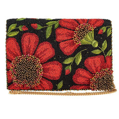 Mary Frances - Wallflower Beaded Crossbody Clutch Handbag